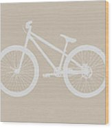 Bicycle Brown Poster Wood Print
