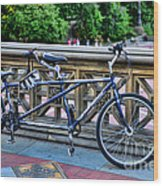Bicycle Built For Two Wood Print