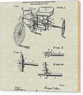 Bicycle Extension Frame 1903 Patent Art Wood Print