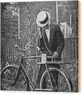 Bicycle Radio Antenna, 1914 Wood Print by