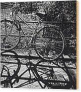 Bicycle Shadow 1 Wood Print