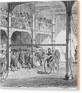 Bicycle Tournament, 1869 Wood Print