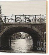 Bicycles Of Amsterdam Wood Print