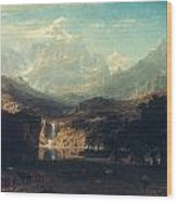 Bierstadt: Rockies Wood Print by Granger