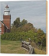 Big Bay Point Lighthouse 1 Wood Print