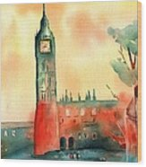 Big Ben    Elizabeth Tower Wood Print