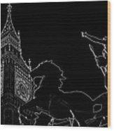 Big Ben And Boudica Wood Print