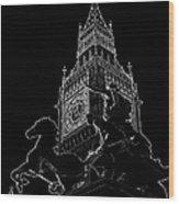 Big Ben And Boudica Statue Wood Print