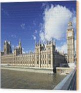 Big Ben And Houses Of Parliament, London, Uk Wood Print