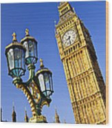 Big Ben And Palace Of Westminster Wood Print by Elena Elisseeva