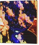 Big Blue Globe Thingee Wood Print