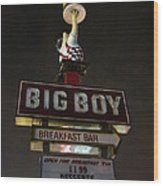 Big Boy At The Top Wood Print