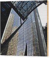 Big City Reflections Wood Print