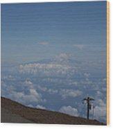Big Island - Island Of Hawaii - View From Haleakala Maui Wood Print