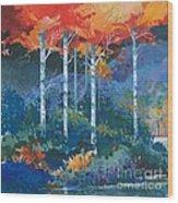 Big Meadows Lake Wood Print