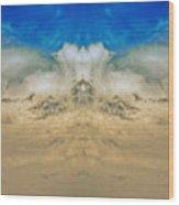 Big Ol Clouds Panorama Wood Print