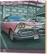 Big Pink Dodge Wood Print
