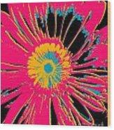 Big Pop Floral Wood Print
