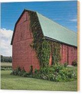 Big Red Barn On Rt 227 Wood Print