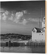 Big Red Lighthouse In Holland Michigan Wood Print