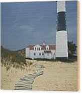 Big Sable Lighthouse In Ludington Michigan Number 3 Wood Print