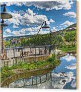 Big Sky Ski Resort II Wood Print