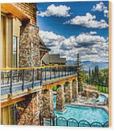 Big Sky Ski Resort Montana Wood Print
