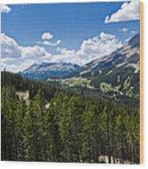 Big Sky Ski Trails Wood Print