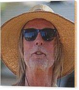 Big Straw Hat Wood Print