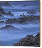 Big Sur Mist Wood Print