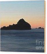 Big Sur Sunset 2 Wood Print