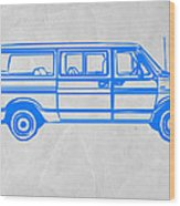 Big Van Wood Print by Naxart Studio