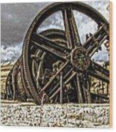 Big Wheels Wood Print