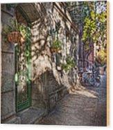 Bike - Ny - Greenwich Village - The Green District Wood Print