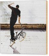 Bike Mx Wood Print