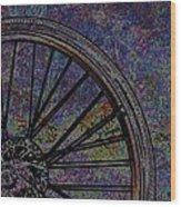 Bike Wheel 2 Wood Print