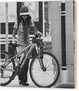 Biker Chick Wood Print