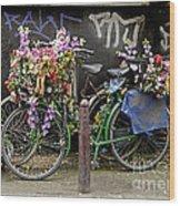 Bikes As Art Wood Print by Ed Rooney