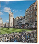 Bikes Cambridge Wood Print