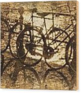 Bikes On The Canal Wood Print
