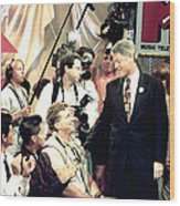 Bill Clinton Appears With Young Wood Print