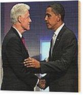 Bill Clinton, Barack Obama At A Public Wood Print