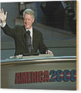 Bill Clinton, Touched By Emotion Wood Print