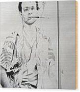 Bill Murray From The Movie 'where The Buffalo Roam' Wood Print