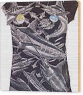 Billfish Ladies Shirt Wood Print