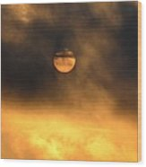Billowing Sunrise Wood Print