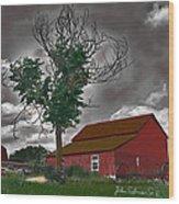 Bills Barn   Red Wood Print