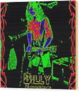 Billy Gets Psychedelic Wood Print