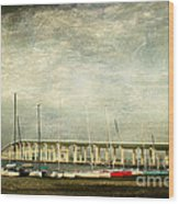 Biloxi Bay Bridge Wood Print