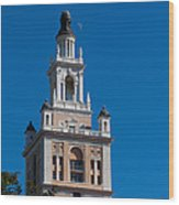 Biltmore Hotel Tower And Moon Wood Print